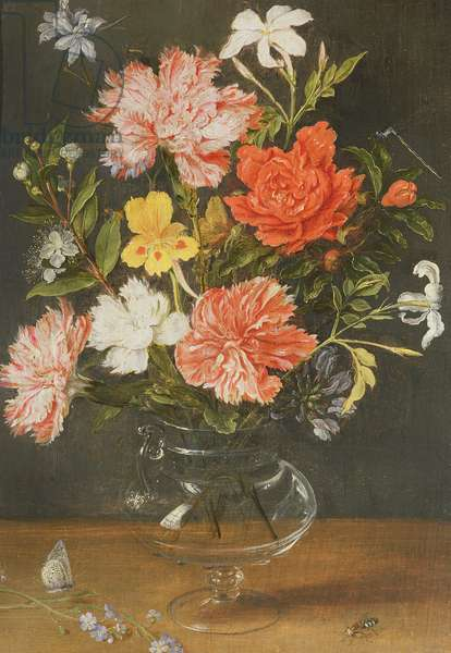 Still Life of Carnations and other Flowers (oil on canvas)