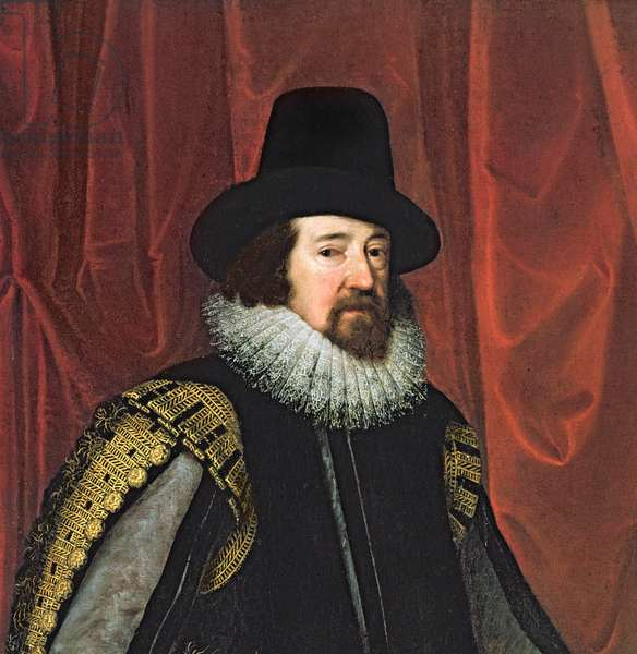 Sir Francis Bacon (1561-1626) Baron Verulam of Verulam, Viscount St. Albans (oil on canvas) (detail of 242134)