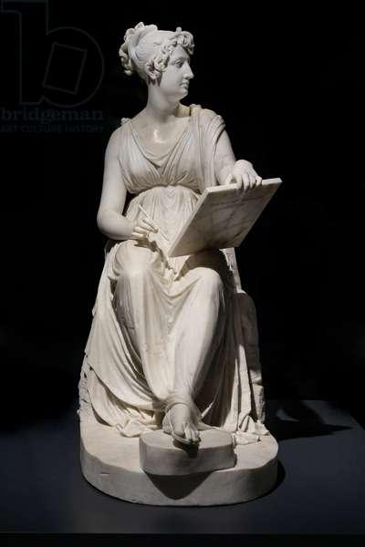 Princess Leopoldina Esterhazy while painting, 1805-18 (marble)
