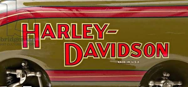 Classic Motorbike Harley-Davidson 22 JD, Trademark (photo)