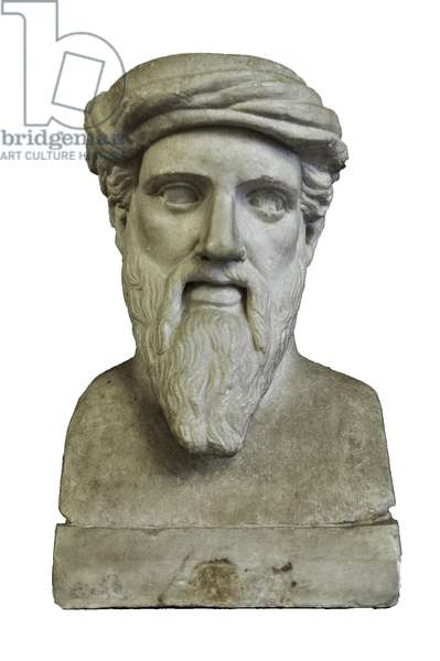 Pythagoras, from a Greek original of the middle of the 5th century BC (marble)