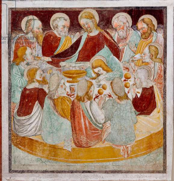 The Last Supper, detail from the Life of Jesus, 1471 (fresco)