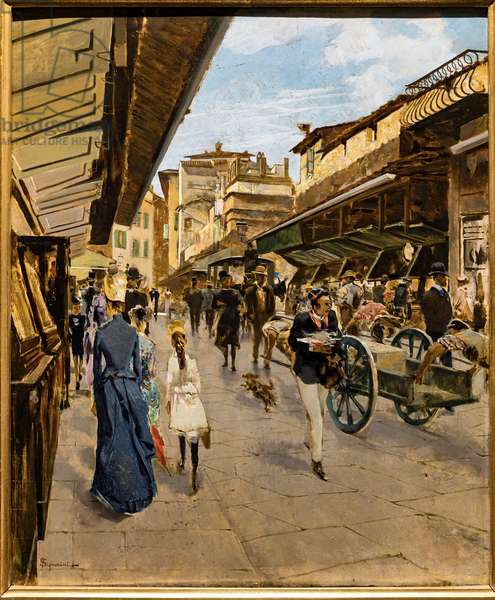 Old Bridge in Florence, c.1882 (oil on canvas)