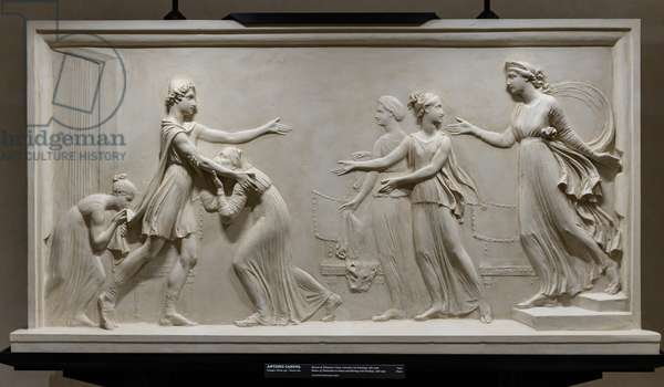 Return of Telemachus to Ithaca and meeting with Penelope, 1787-90 (plaster)