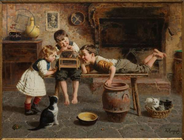Children's Games (oil on canvas)
