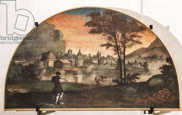 Matteo Maria Boiardo writing his poem (fresco)