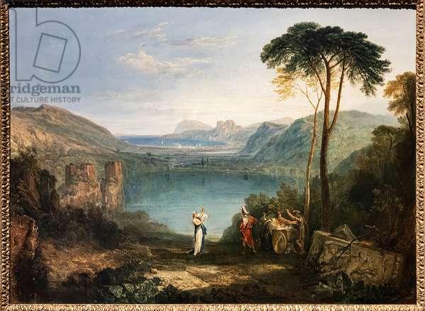 The Lake of Avernus, Aeneas, the Cumaean Sybil,  1814-15 (oil on canvas)