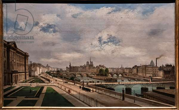 View of Paris from the Louvre Palace, 1855 (oil on canvas)