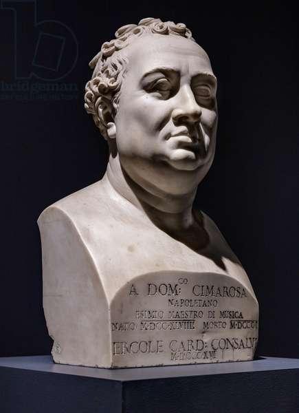 Domenico Cimarosa, 1822 (marble)