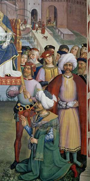 The Prince Djem, known as 'The Little Turk', detail from 'Pope Pius II (1405-64), at Ancona, Blesses the Fleet about to Leave for the Holy Land, 15th August 1464, 1503-08 (fresco)