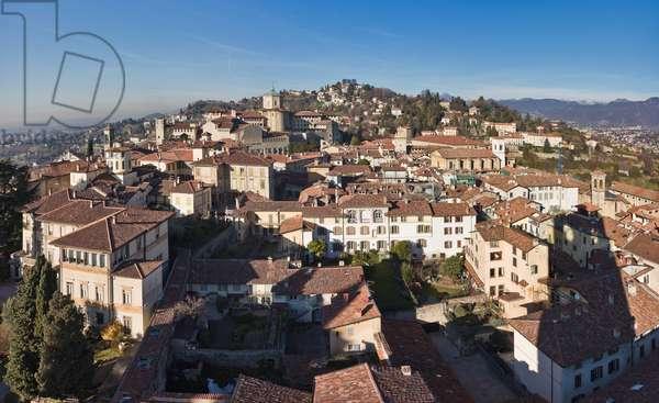 View of Bergamo Alta, Italy (photo)