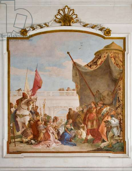 Continence of Alexander the Great, 1743 (fresco)