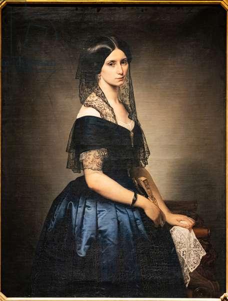Portrait of Antonietta Tarsis Basilico, 1851 (oil on canvas)