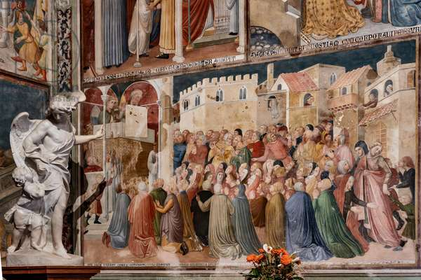 Detail of frescoes, 1357-64 (fresco)