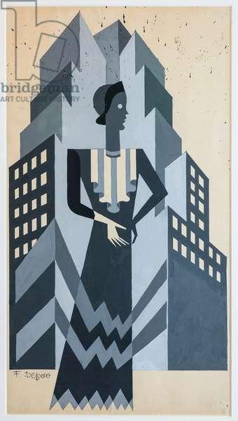 Studio for Vogue illustration, 1929-1930