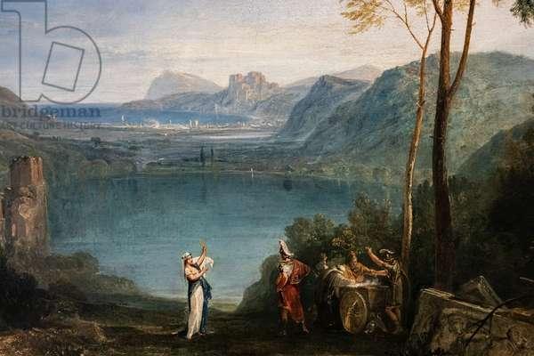 The Lake of Avernus, Aeneas, the Cumaean Sybil, detail, 1814-15 (oil on canvas)