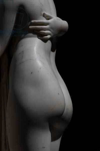The three Graces, 1812-17, detail of the back and hand (marble)