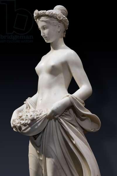 Flora, detail, 1838-40 (marble)