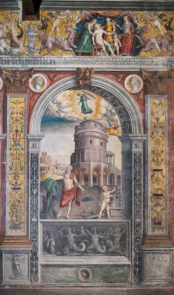 The astrological sign of Virgo, Chamber of the Zodiac (Camera dello Zodiaco), 1515
