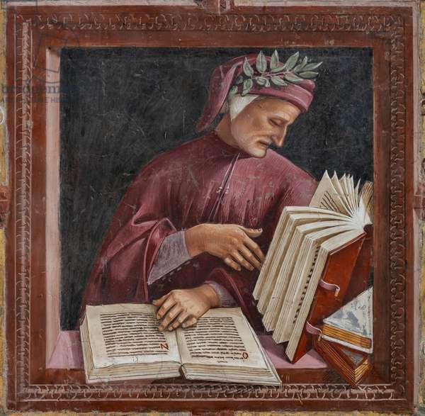 Dante  reading his works (fresco)