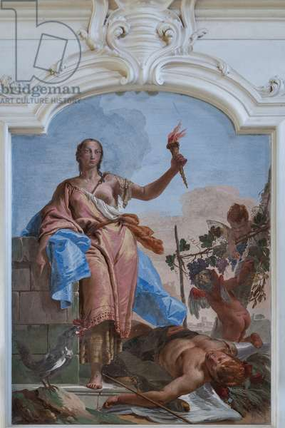 Vigilance triumphs upon Slumber, 1734 (fresco)