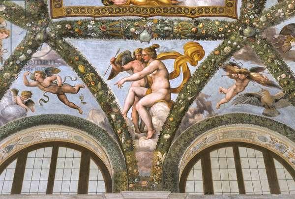 Venus instructing Cupid to launch an arrow, 1517-18 (fresco)