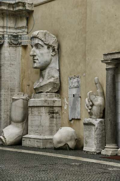 Fragments of a Colossal statue of Constantine, from the Basilica of Maxentium