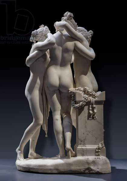 The three Graces, 1812-17, detail of the rear part (marble)