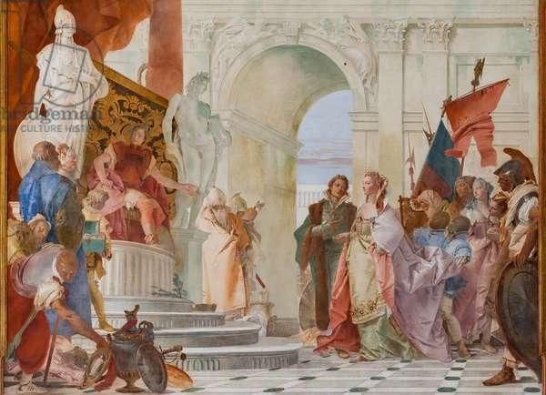 Magnanimity of Scipio Africanus (detail), 1743 (fresco)
