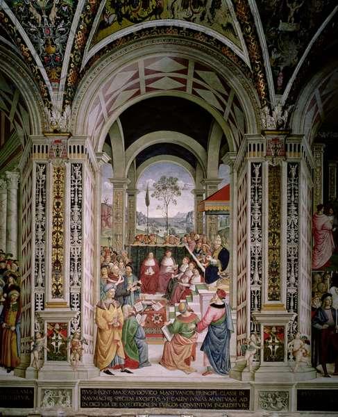Pope Pius II (1405-64) Presides over the Diet of Mantua in 1459, 1503-08 (fresco)