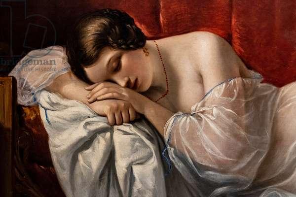 The Sleep of Innocence, detail, 1841 (oil on canvas)