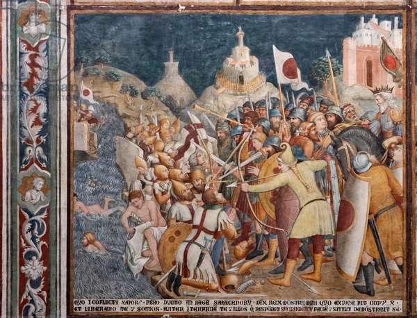 Frescoes, detail, 1357-64 (fresco)