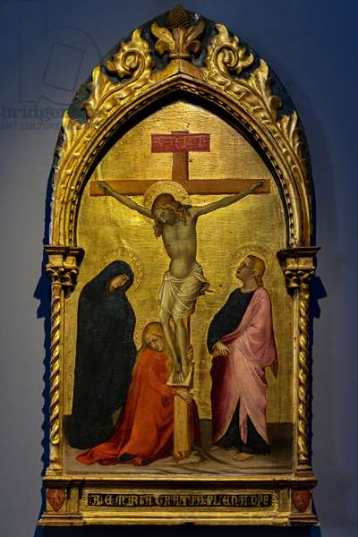 Jesus Crucified between the Madonna, Magdalene and St. John the Evangelist, last decade of the 14th century (tempera and gold on panel)