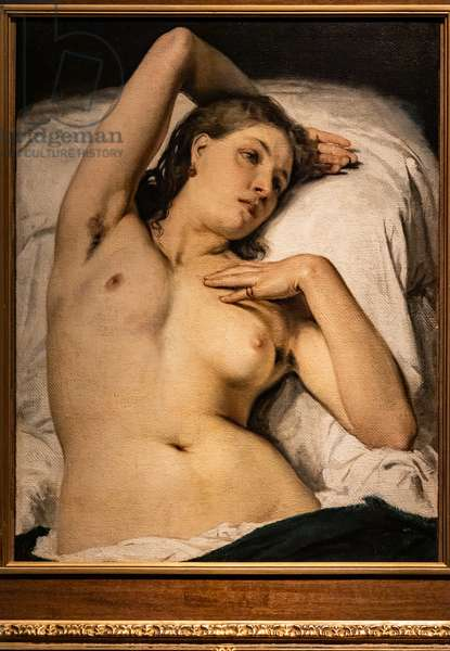 Nude of Woman (Resting Model), 1850-60 (oil on canvas)