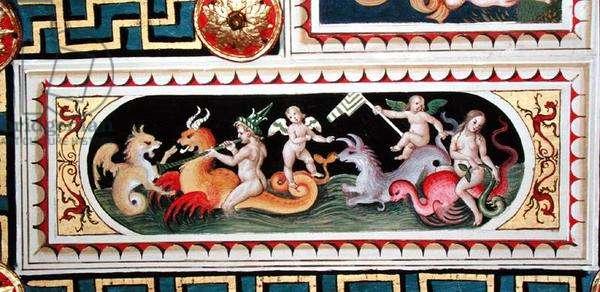 Maritime scene, from the ceiling, 1503-08 (fresco)