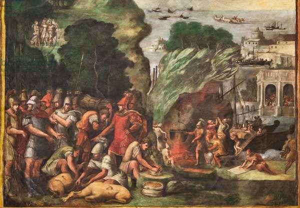 Scenes of the Aeneid, detail of 2384648 (fresco)