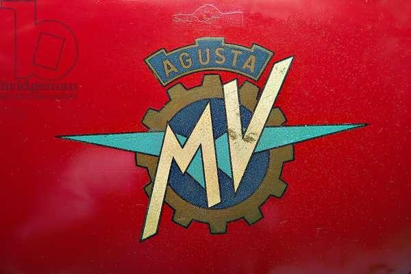 Classic Motorbike MV Agusta 125 Monoalbero Corsa. Trademark (photo)