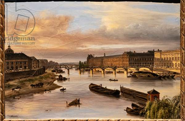 View of the Seine from the Pont Neuf, 1827 (oil on canvas)