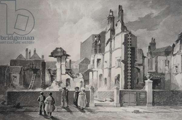 Queen's Square, Bristol, 1831 (w/c on paper)