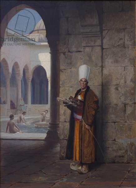 The Harem Guard (oil on panel)