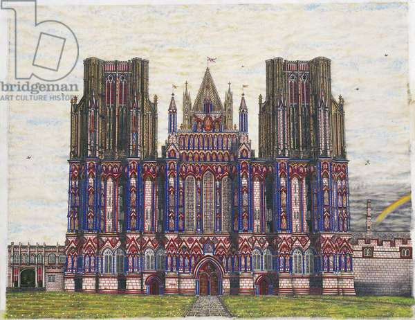 Wells Cathedral, main panel from 'Magnum Opus', 2003 (w/c, acrylic, Indian ink & graphite on paper)