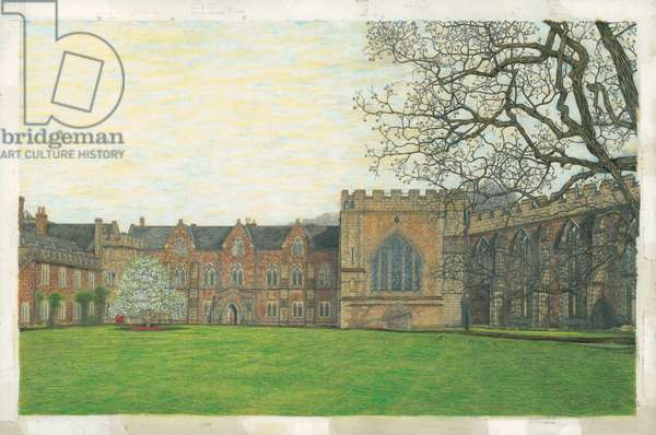 The Bishop's Palace, Wells, 2010 (w/c, acrylic, indian ink & graphite on board)