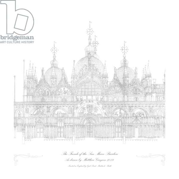 Piazza San Marco in c.1480, 2018 to present (body colour & graphite on board)