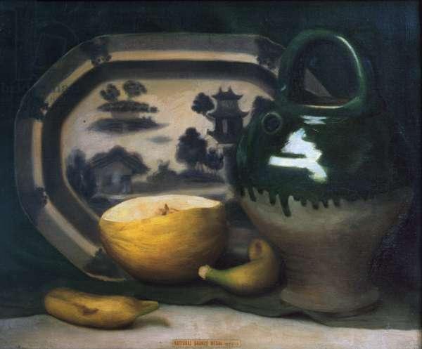 Still life with melon, 1908 (oil on canvas)
