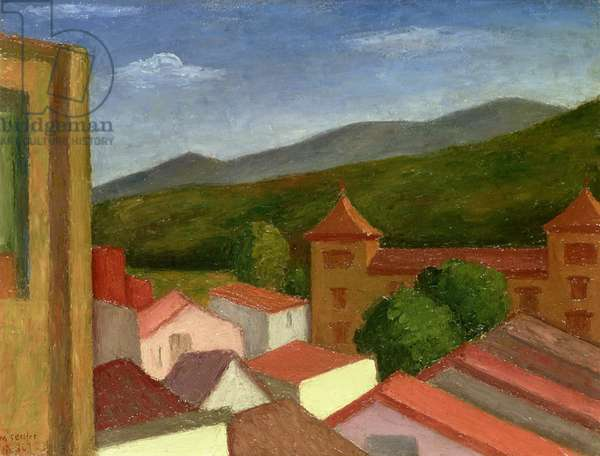 The Monastery, 1934 (oil on board)