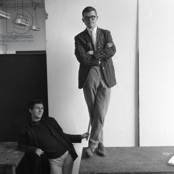 David Hockney and Peter Phillips, c.1960-61 (b/w photo)