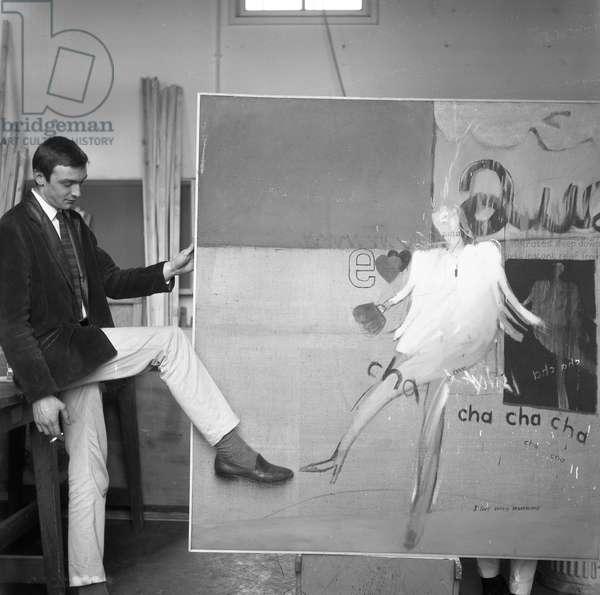 Peter Crutch with 'Cha Cha Cha', c.1960-61 (b/w photo)