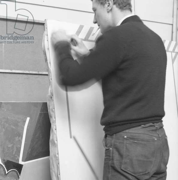 'Boshier Prepares', c.1960 (b/w photo)