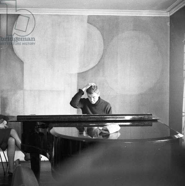 Derek Boshier, 1960 (b/w photo)