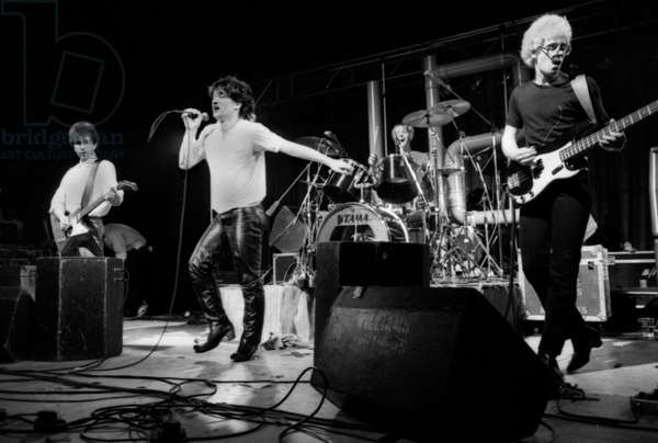 U2 at London's Lyceum , 7 September 1980 (b/w photo)